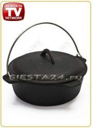 Казан чугунный с крышкой «Russian Cast Iron Cauldron» TK 0035