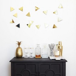 Фото декор для стен Confetti triangles латунь, рис. 3.