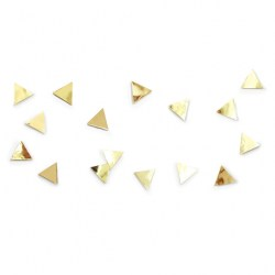 Фото декор для стен Confetti triangles латунь, рис. 1.