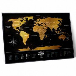 Фото карта Travel Map Black World рис.6