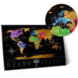 Фото карта Travel Map Black World рис.3