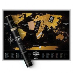 Фото карта Travel Map Black World рис.1