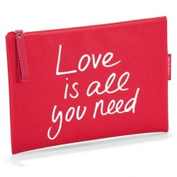 Фото красная косметичка Case 1 «love is all you need» рис.1