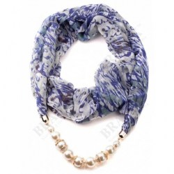 Фото колье-шарф «ПАРИЖАНКА» Scarf-necklace Blue рис.1