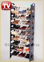 Стойка для обуви для 30 пар обуви, 10 полок Stackable Shoe Rack